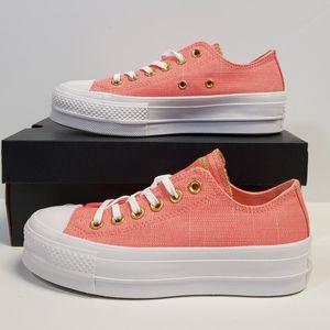 Converse CTAS Ox Lift Platform Canvas Shoes Pink